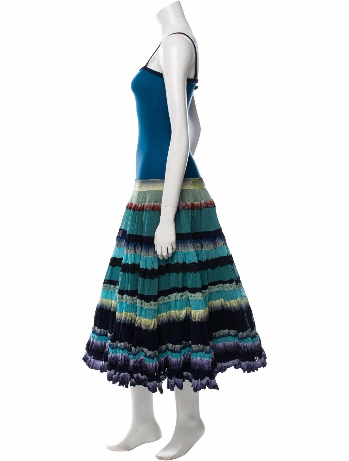 HEAD TURNING NEW  4,300 JEAN PAUL GAULTIER DRESS IN IN IN GORGEOUS SHADES OF blueE b75e32