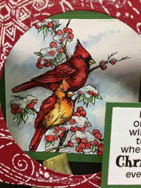 STAMPENDOUS Cling Rubber Stamp Cardinal