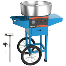 Vevor Electric Commercial Cotton Candy Machine Floss Maker Blue Cart Stand