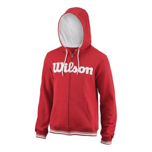 Wilson Hommes Équipe Script Fullzip Hoody Sweatjacke rouge nouveau