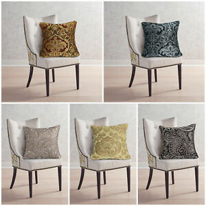 Luxury-Jacquard-Cushion-Covers-or-Filled-Cushion-18-034-x18-034-Large-Sofa-Bed-Pillows