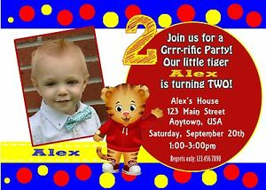 Details About Daniel Tiger Invitations Birthday Party Supplies