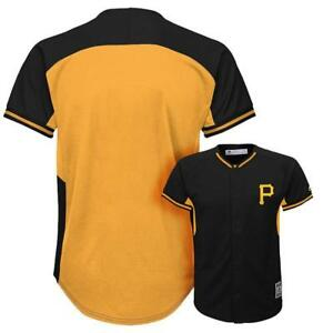 check out fcc22 bf4b0 Details about Pittsburgh Pirates jersey Majestic replica bp button down  black/gold NWT