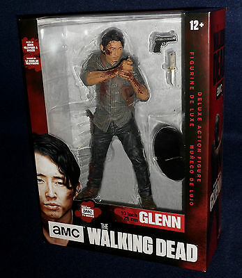 """Bloody LEGACY GLENN RHEE McFarlane Walking Dead TV DELUXE 10/"""" Figure IN STOCK"""