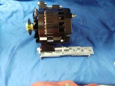 """Bracket 1//2/"""" Pulley Alternator Black 1 One Wire 8 Volt Positive Ground 60 Amp"""