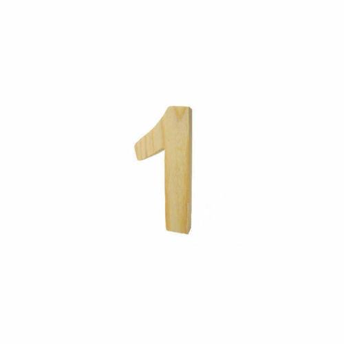 ca 8cm hoch 3D Holzzahl ´1´
