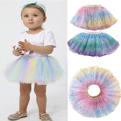 Fashion Rainbow Bowknot Tutu Children Dancewear Toddler Pettiskirt For Kids Girl