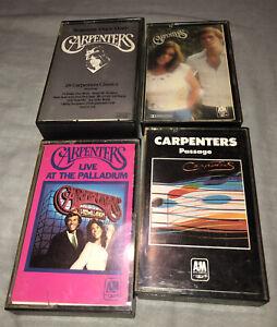 Bundle Of 4 x Vintage CARPENTERS Cassette Tapes Vintage Passage, Horizon Live At