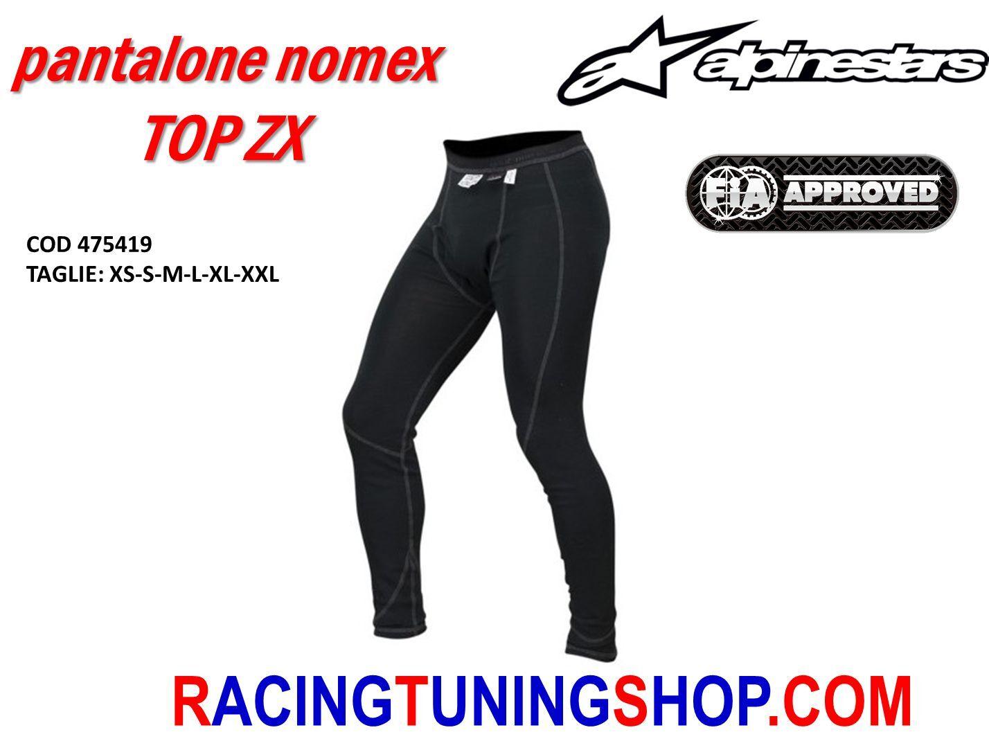 Hose Unterzieher Auto homologiert fia Alpinestars zx Rallye Racing Top underwear