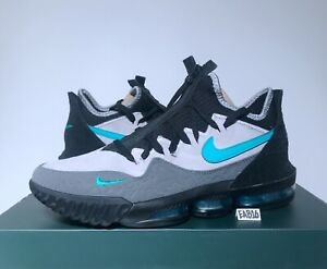 uk availability 8b254 0fbfe Details about Nike Lebron James 16 XVI Low X ATMOS Clear Jade CD9471-003  Black Elephant Size