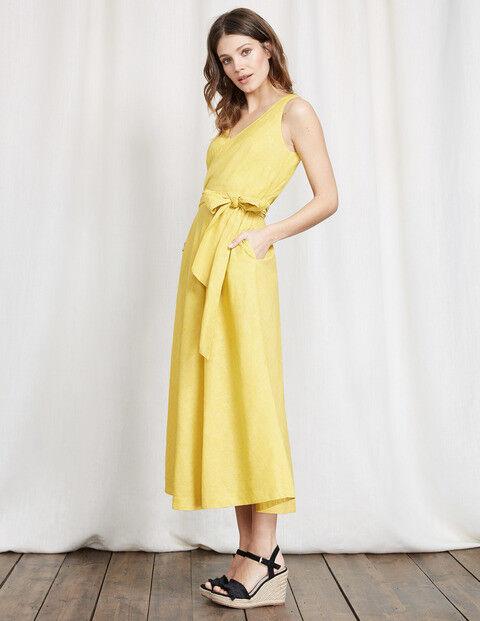 Boden Gelb Riviera Dress UK Größe 10 Petite TD092 PP 10