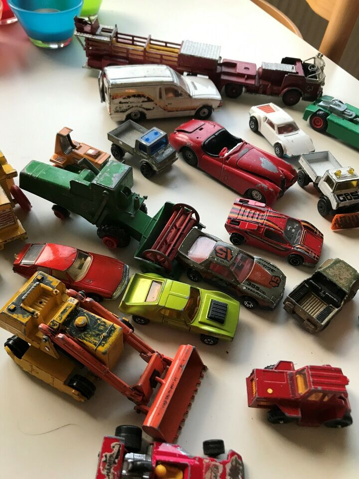40biler, Matchbox, corgi og majorette