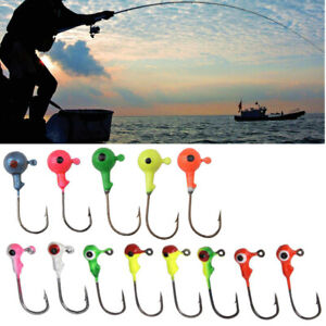 5-50-pcs-Sharp-Barb-Hook-Fishing-Round-Shape-Ball-Lead-Jig-Head-Hooks-Accessory