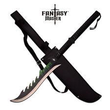 SHORT SWORD Fantasy Master Black Two-Hand Green Ninja Blade Dragon Sheath FM-670