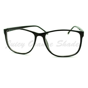 Thin Framed Fashion Glasses : Square Clear Lens Eyeglasses Oversized Thin Fashion ...