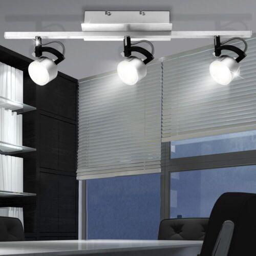 15W LED Decken Strahler Leuchte Wohn Zimmer Lampe Alu gebürstet Spots beweglich