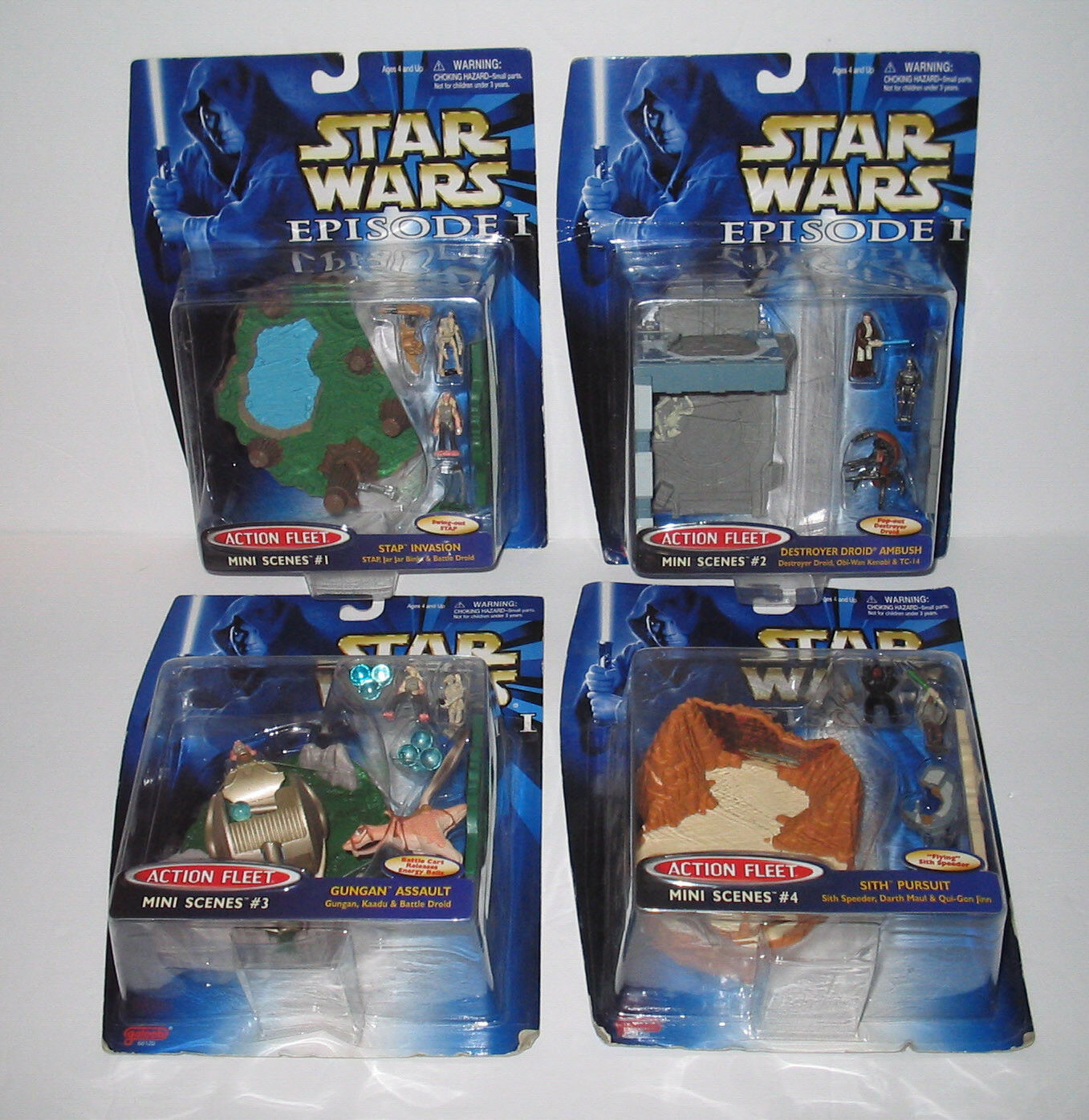 STAR WARS Episode 1 Galoob ACTION FLEET Micro Mini Play Set Lot