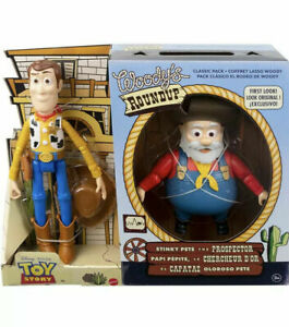 Toy Story Woody's Roundup 2 Packs Woody & STINKY PETE THE PROSPECTOR Brand New
