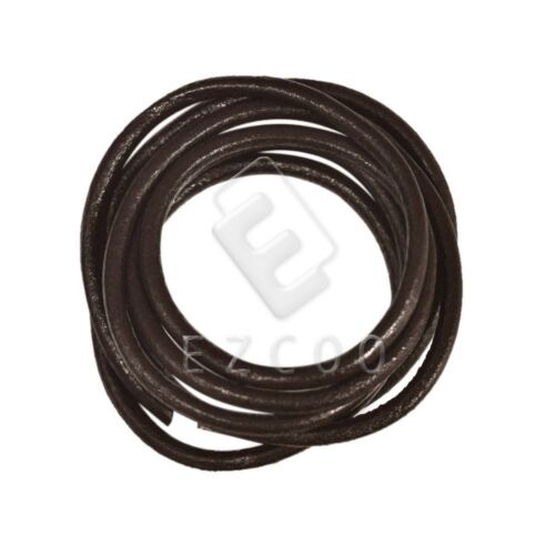 1M Real Leather Cord Thread Thong Jewellery Necklace Bracelet String 4mm//5mm//6mm