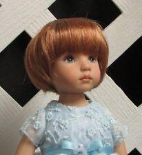 "Doll Wig Monique ""Tara"" size 7/8 in Lt Ginger, Modacrylic - fits Little Darling"