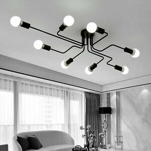 4 6 8way Industrial Style Ceiling Light Modern Bathroom Retro Metal Pendant Lamp Ebay
