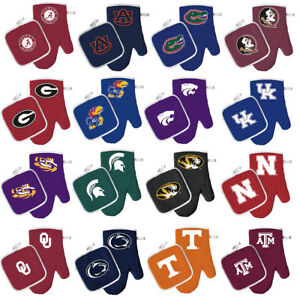 oven-mitt-pot-holder-set-bbq-tailgating-NCAA-PICK-YOUR-TEAM-tailgate-barbecue