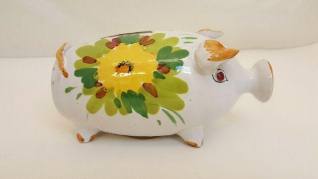 Italian hand painted piggy bank