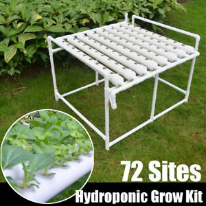 72-Plant-Sites-Hydroponic-Grow-Kit-Deep-Water-Pump-Vegetable-Tool-Garden-System