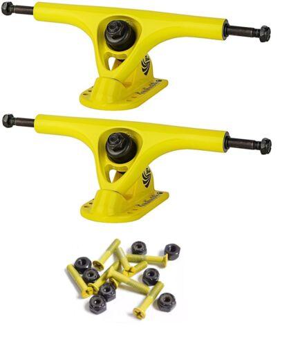 180mm Polished Trucks 70mm Wheels Combo Solid Yellow