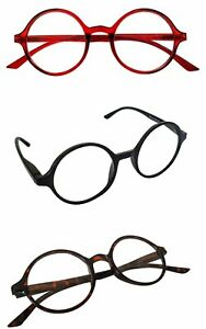Reading-Glasses-Round-Frame-Classic-Retro-1950s60s-Spring-Hinges-3-Colours-RG3