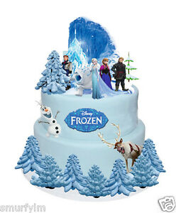 Elsa Edible Cake Decoration : DISNEY FROZEN ELSA ANNA OLAF STANDS UP CAKE TOPPERS WAFER ...