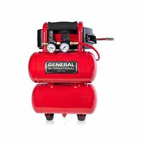 General International 1/3 Hp 2 Gallon Twin Stack Air Compressor Ac1212 on sale