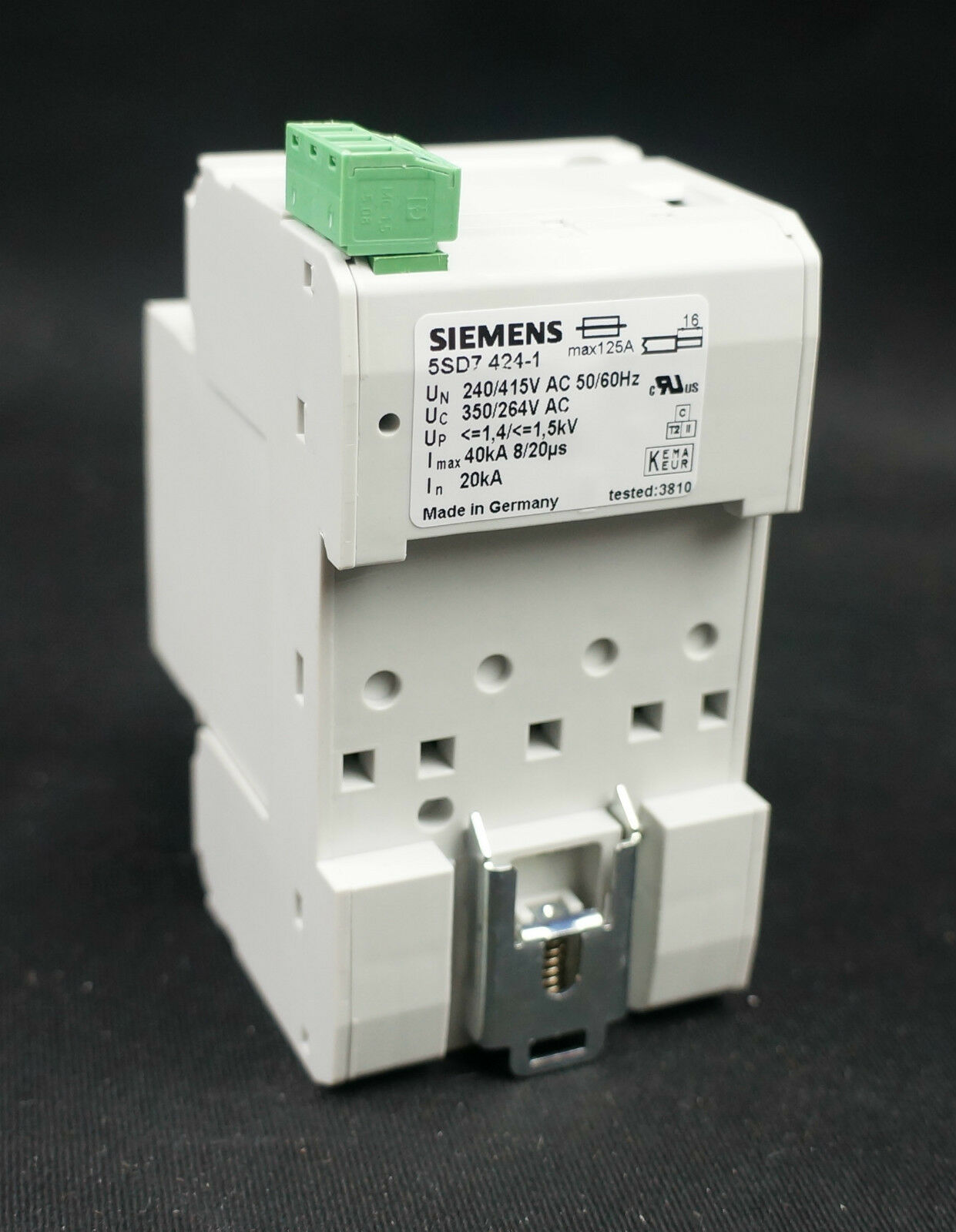 Siemens 125a 4 Pole Overvoltage Protection Surge Protector Arrester Circuit Breakers Havells Double Mcb Miniature Breaker 5sd7 424 1 Ebay