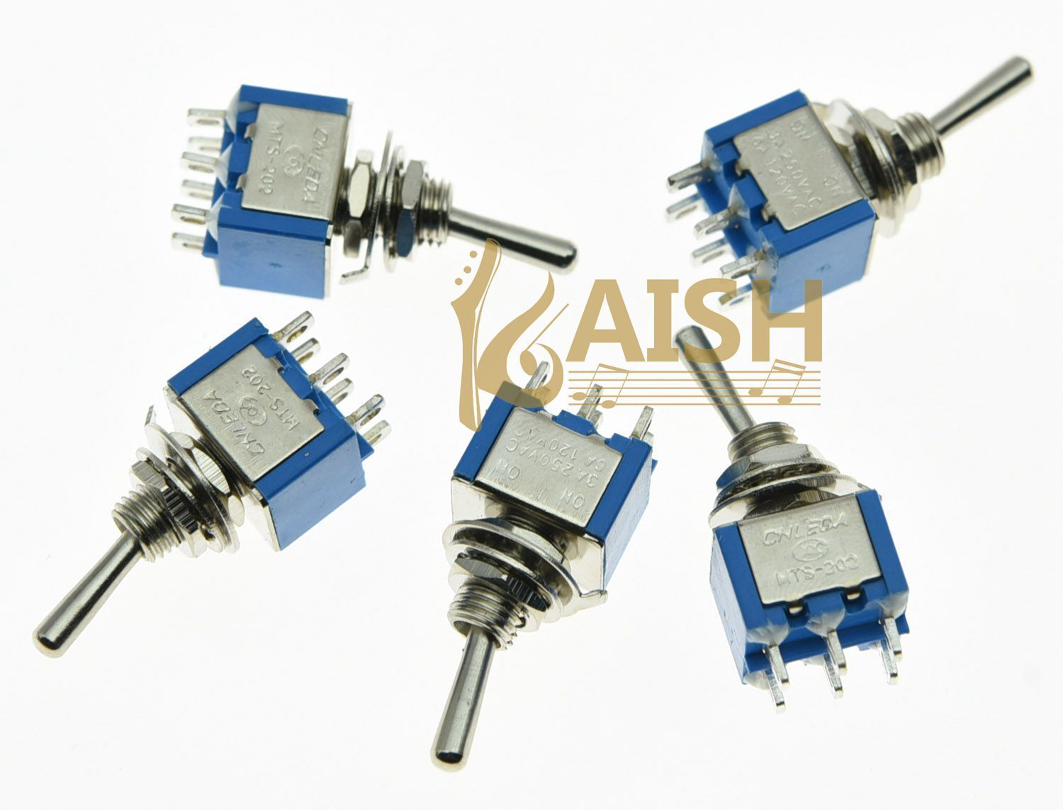 5x Dpdt Guitar Mini Toggle Switch 2 Position On 6 Pin Car Boat Wiring Harness Pickup 1v2t 5 Way 500k Pots For Fender Strat Norton Secured Powered By Verisign