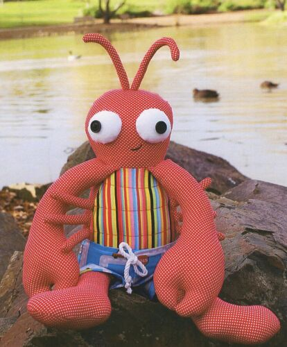 Cloth Rag Doll Fish Crab Shrimp Rocky Lobster Sewing Craft PATTERN