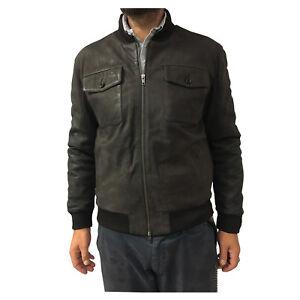 327dd17fba9 D AMICO veste homme marron doublé modèle LOUIS 100% cuir