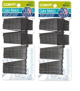 "180 Pcs Regular 2/"" inch Bobby Pins Hair Grips Clips Classic Style Black LOT 180"