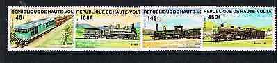 Hell Obervolta 1984 Satz 968/71 Lokomotive/zuge/eisenbahn Postfrisch Verbraucher Zuerst Afrika