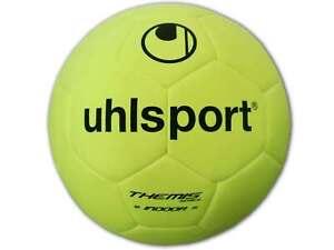 Uhlsport Themis Indoor Fußball gelb Hallenball Kurzhaarvlies Hallen Ball Gr.5