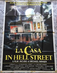 poster 4 sheets LA CASA IN HELL STREET Scream for Help horror Italy 1985