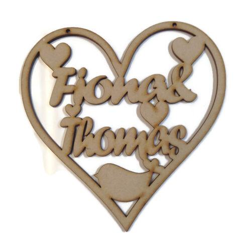 Birthday Wooden MDF Heart Plaque Personalised Wedding Boyfriend Girlfriend