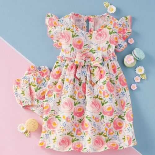 Mud Pie E0 Kids Baby Girl Secret Garden Rosebud Toddler Dress /& Bloomers Set ...