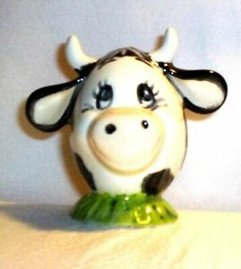 """Cow G17 16.1179 Ceramic Character Cow Egg """"Happy"""" Pie Vent"""