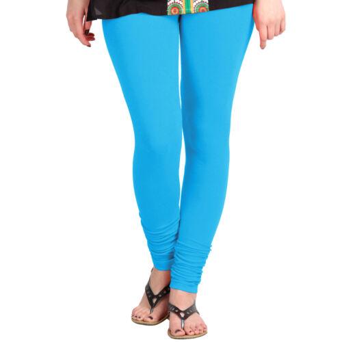 Aqua color High Quality 4-Way Stretch Light Weight Cotton Lycra Leggings