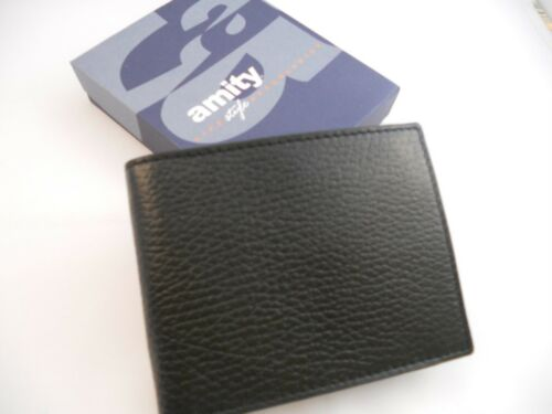 AmityCoin Billfold Leather Wallet,Black-See Description Link for Pictures