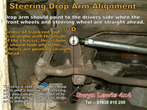Discovery 1 300 tdi 30mm Steering Arms Bar Rod Heavy Duty Range Rover Classic