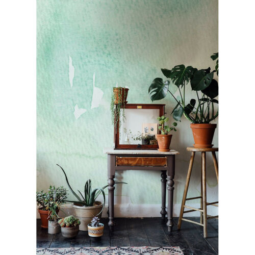 Wall Mural Light Tones Faded Abstract Watercolor Painting Non-woven wallpaper