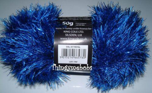 35 COLOURS 50g KING COLE TINSEL CHUNKY WOOL//YARN TEDDY//OWL//HEDGEHOG//DRAGON