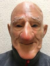 VECCHIO Uomo Maschera Testa Pelata BIG Chin Grandad BRUTTI SPORCHI il nonno in Lattice Costume Addio al Celibato