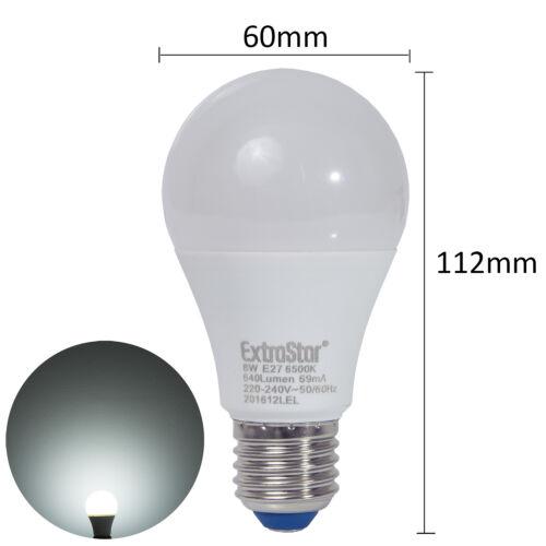 10W Kalt Warmweiß Sparlampe Neutral 3x Extrastar® E27 LED Lampe Glühbirne 8W